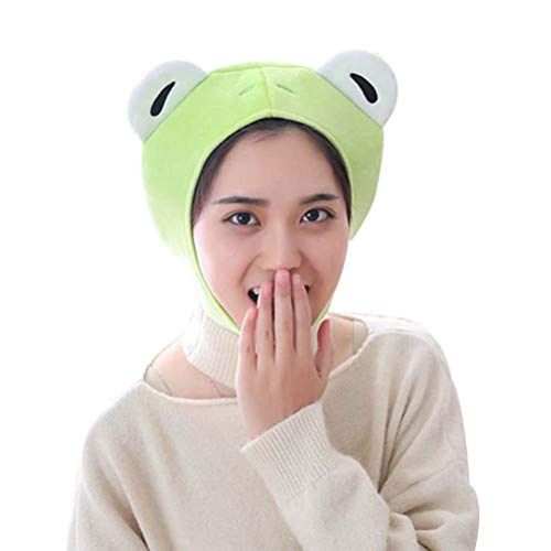 Amosfun Plüsch Frosch Hut Mütze Froschohren Kostüm Fuzzy pelzigen Tierhüte Party Foto Stand Requisiten für Kinder und Erwachsene