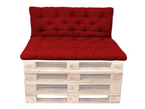 Ambient home Coussin spéciaux pour Palette EVJE Rouge 140 x 120 x 8 cm 90593