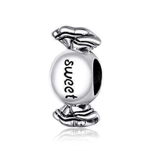 Abalorio de plata para pulsera y collar de Pandora