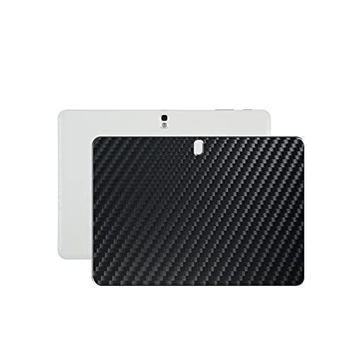 VacFun 2 Piezas Protector de pantalla Posterior, compatible con Samsung GALAXY Tab pro 10.1' SM T520 T521 T525, Película de Trasera de Fibra de carbono negra Skin Piel