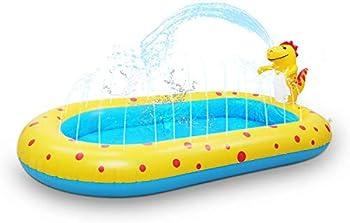 Kiddie Pool Dinosaur Inflatable Sprinkler Swimming Pools Water Toys