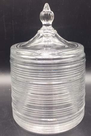 C M Bombonera de Cristal de 10cm de diametro (Blanco-1)