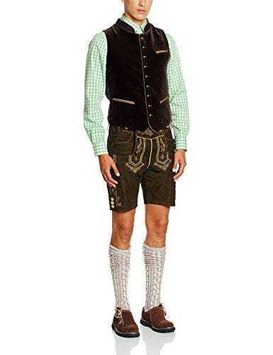 Stockerpoint Herren Weste Ricardo Trachtenweste, Braun (braun), Large (Herstellergröße: 52)