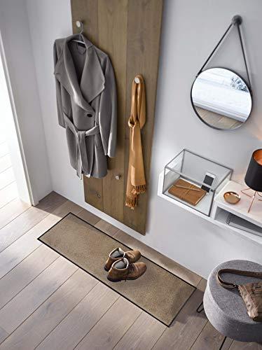 Wash + Dry Fußmatte, 100% Polyamid, Taupe, 35 x 120 cm