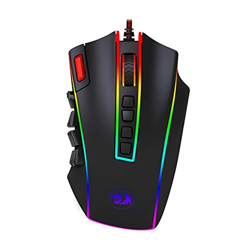 RENJUN 24000 PPP Botones programables Ratón láser for Juegos de diseño ergonómico for PC de Escritorio del Ordenador Gamer