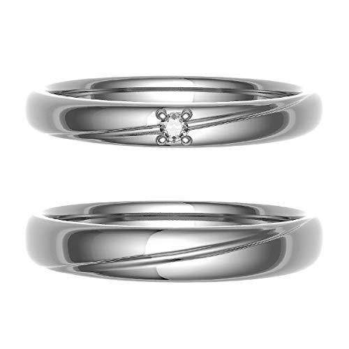 [ココカル]cococaru ペアリング 結婚指輪 K10ゴールド 2本セット マリッジリング ダイヤモンド 日本製(レディースサイズ4号 メンズサイズ4号)