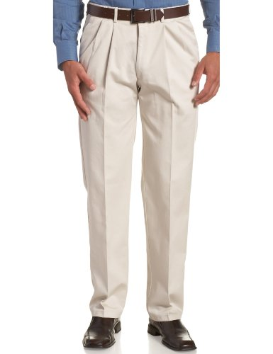 Haggar mens Work-to-weekend No-iron Pleat-front With Hidden Expandable Waist dress pants, String, 38W x 30L US