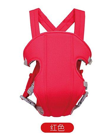 Hivel 3 en 1 Respirable Fular Portabebes Portador de Bebe Front Back Baby Safety Carrier Infant Comfort Backpack Sling Wrap - Rojo