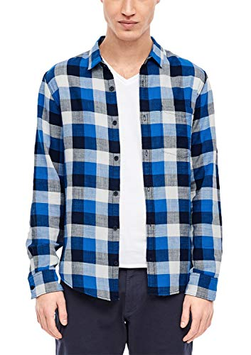 Q/S designed by Herren Hemd Langarm Blue/White Check L