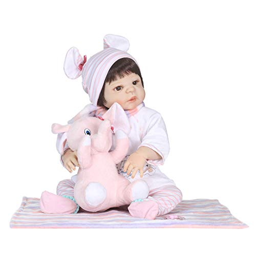lailongp Early Childhood Babyspielzeug, Simulationspuppe für Kleinkinder ab 3 Jahren, Silikon-Vinyl, D, M