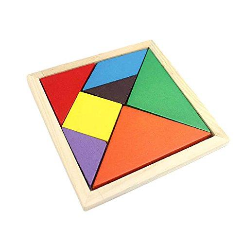 Fami Haute Qualité Enfants Jouet Géométrie Puzzle en Bois (Multicolore)