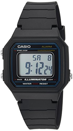 Casio Men's 'Classic' Quartz Resin Casual Watch, Color:Black (Model: W-217H-1AVCF)