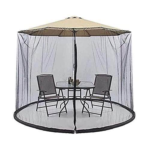 NCOEM Rete per ombrelloni da Giardino Schermo di Rete MOSQ-UITO con la Cerniera Porta in Poliestere Base per Tubi d'Acqua per Tenere in placelella e Fondazione Rete da terrazza per Gazebo