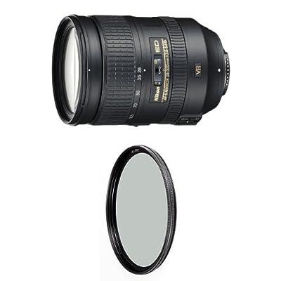 Nikon 28-300mm f/3.5-5.6G ED VR Auto Focus-S Nikkor Zoom Lens for Nikon Digital SLR w/ B+W 77mm XS-Pro HTC Kaesemann Circular Polarizer by