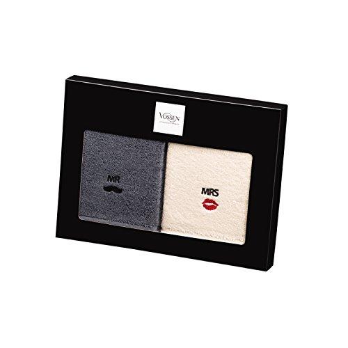 Vossen Mr & Mrs Geschenkset Handtücher 50 x 100 cm