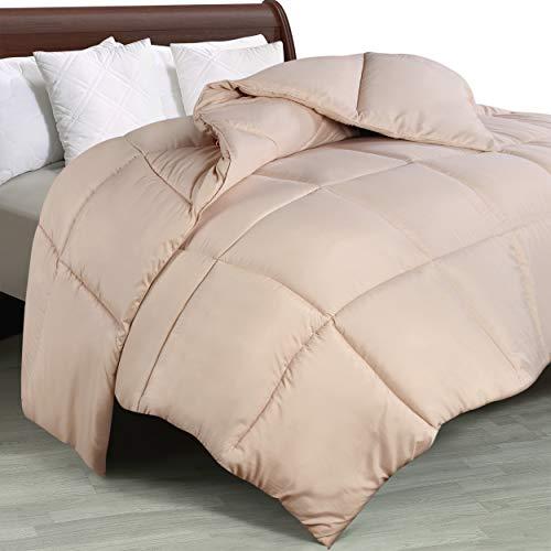 Utopia Bedding Comforter Duvet Insert - Quilted Comforter with Corner Tabs - Box Stitched Down Alternative Comforter (King, Beige)