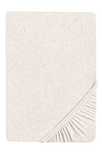 Biberna 0841380 Sábana Bajera Adjustable Franela Melange 1x 140x200 cm > 160x200 cm, Gris