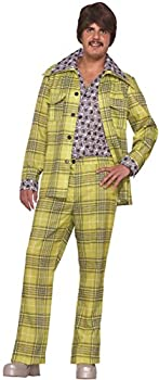 Forum Novelties Men s Leisure Suit 70 s Plaid Costume Groovy Retro Party Halloween One Size Fits Most Green