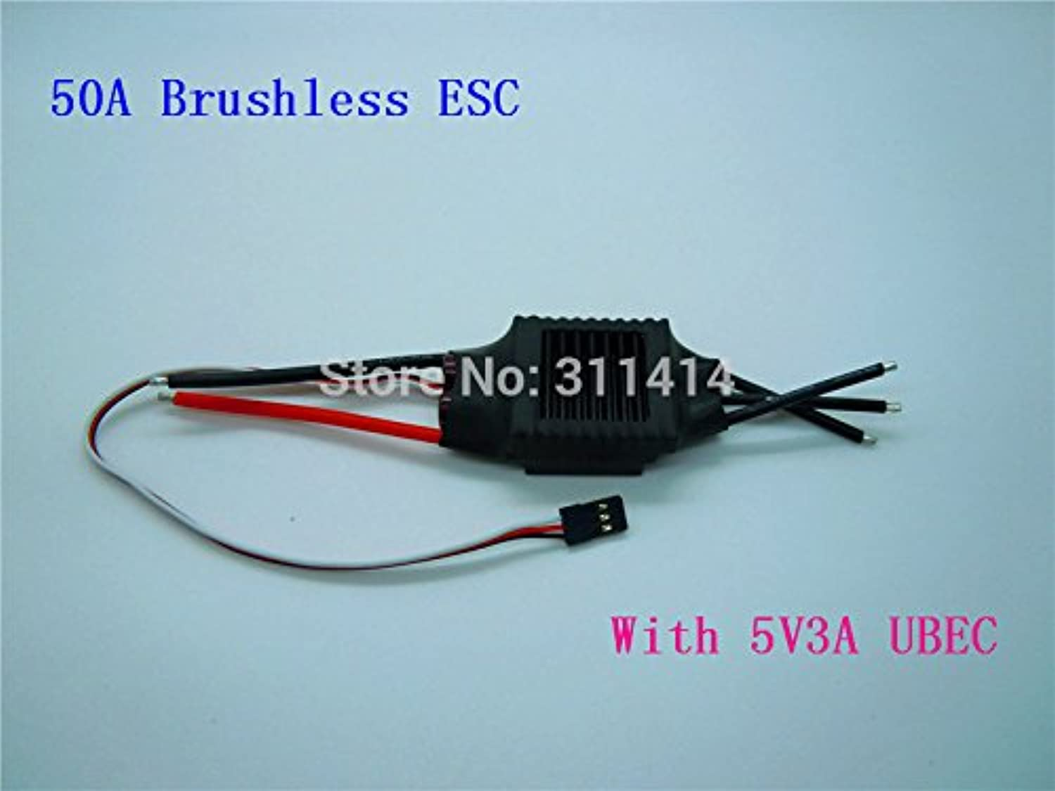 Laliva 1piece 50A 50A Brushless ESC 2-4S Multi- Copter BEC RC Speed Controller for Brushless Motor Airplane Helicopter