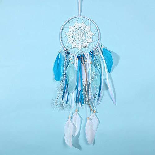Aros para Atrapasueños Azul Dreams Catcher Hecho a Mano Aros Atrapasuenos para El Cumpleaños O Los Compañeros De Clase del Aniversario De San Valentín,15x46cm