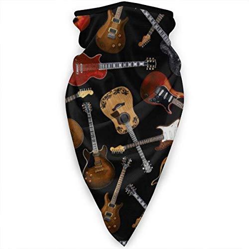 FunnyStar Bandana Gesichtsmaske Unisex Radfahren Schal Halstuch Sturmhaube Kopfbedeckung Stirnband für Outdoor Radfahren Motorrad mit UV-Schutz Cartoon Giraffe Gr. Einheitsgröße, Gitarren