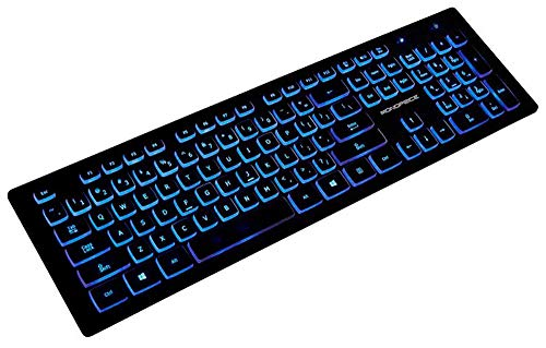 Monoprice Deluxe Backlit Keyboard- Black, Ideal for Office Desks, Workstations, Tables - Workstream Collection