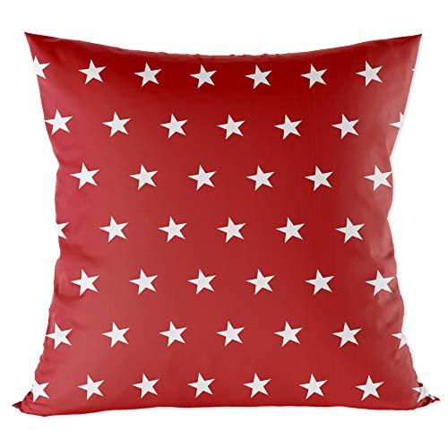 funda cojin 40x40 - funda almohada bebe de algodón fundas de cojines decorativos para niños cojin infantil Rojo