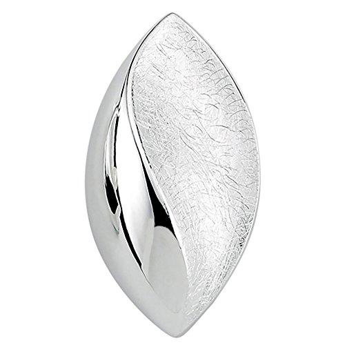 Vinani Design Anhänger Mandel Auge elegant geschwungen gebürstet glänzend Sterling Silber 925 Linse 2ARA-EZ