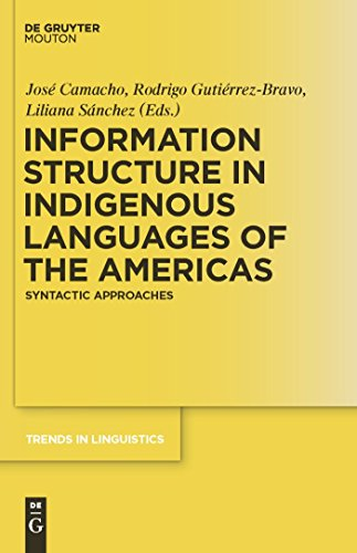 Information Structure in Indigenous Languages of the Americas: Syntactic Approaches (Trends in Linguistics. Studies and Monographs [TiLSM] Book 225) (English Edition)
