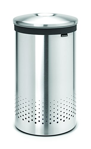 Brabantia 105180 Wäschebox 60 L Edelstahldeckel, matt steel