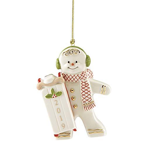 Lenox 884442 2019 Sledding Gingerbread Ornament