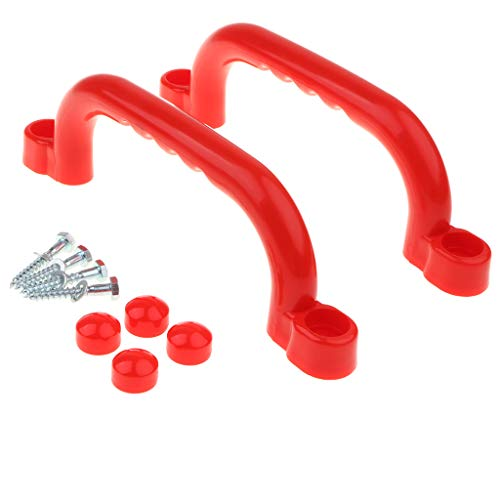 2 Stück Sicherheits Haltegriffe Handgriffe Zubehör Für Spielanlagen, Baumhaus, usw. - rot