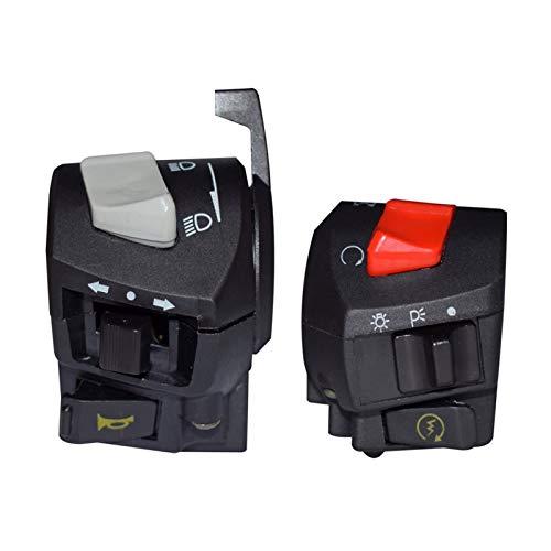 linger 7/8'22 mm Motorycle Universal Manillar Interruptor Cuerno Señal de Giro Faro Interruptores de Encendido Interruptores de Encendido Montaje Fit para Bicicleta de Foso ATV ATV (Color : Gray)