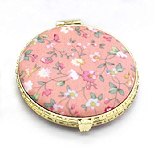 Linwei 1pc Mini Makeup Compact Pocket Floral Mirror Portable Two-Side Folding Make Up Mirror Women Vintage Cosmetic Mirrors,OR1