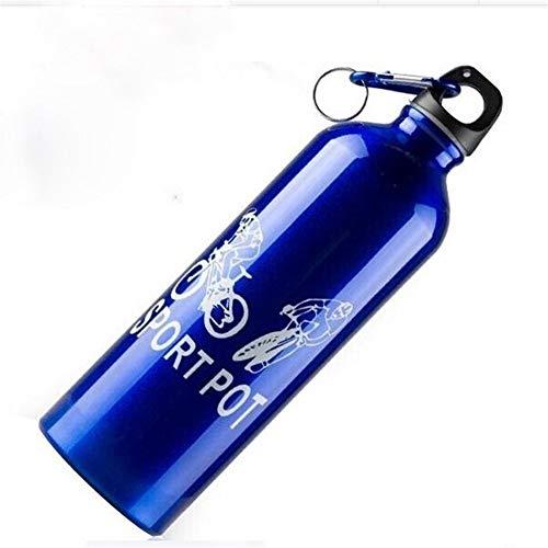 WWWANG Aleación de Aluminio de la Caldera, la Caldera de Bicicletas, Botella de Aluminio de aleación de Agua Almacenamiento pequeño, práctico y portátil (Color : Silver)