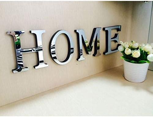 """31 opinioni per ZunBo- Adesivo da parete con lettere """"Home"""", effetto specchio, decorazione per"""