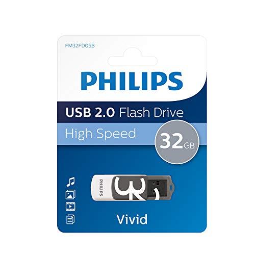 Philips FM32FD05B - Memoria USB de 32 GB (USB 2.0, 18 MB/s,...