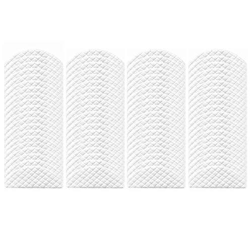 Piezas de aspiradora 80 piezas de trapos desechables aptos para ecovacs deebot ozmo t8 aspiradora limpiador de vidrio paños trapeadores Pastillas de repuesto Piezas de repuesto ( Color : White )