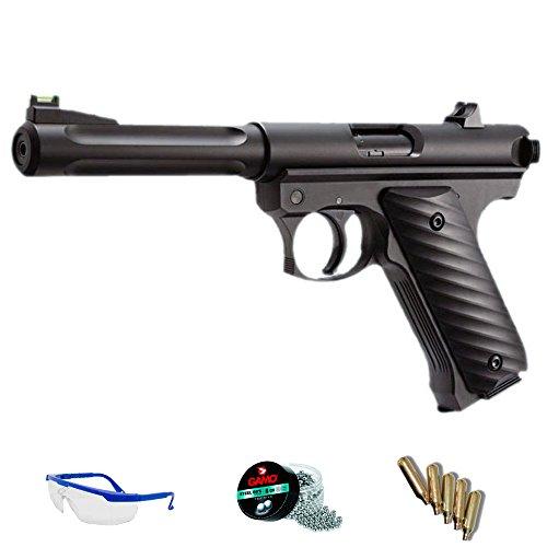 PACK pistola de aire comprimido - KJWORKS MK2 de CO2 y balines de acero BBs <3,5J