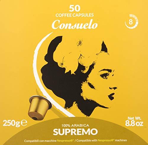 Consuelo - cápsulas de café compatibles con Nespresso* - Supremo, 50 cápsulas