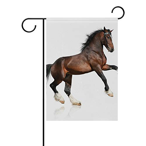DEZIRO Paard Mark werf vlag aangepaste Tuin Vlag Dubbele Zijde 28x40(in) 1 exemplaar