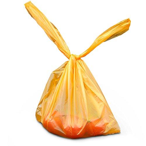 2.000x Polybeutel 30 + 16 x 52 orange geblockt 20x100 Stück   Einkaufsbeutel   Hemdchentragetaschen in 30+16x52 cm   Plastiktüten   HUTNER