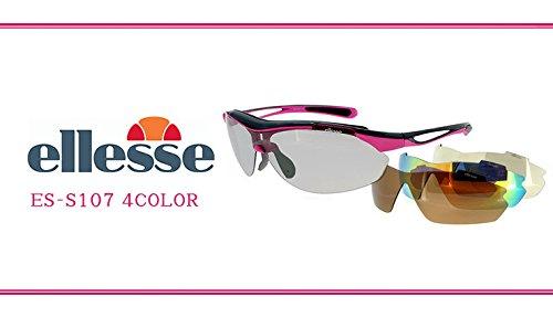 (エレッセ)ellesseスポーツサングラスES-S107(2:ブラック×パープル)レディース女性用偏光ミラーレンズ4枚付属[ゴルフランニング自転車]サングラス