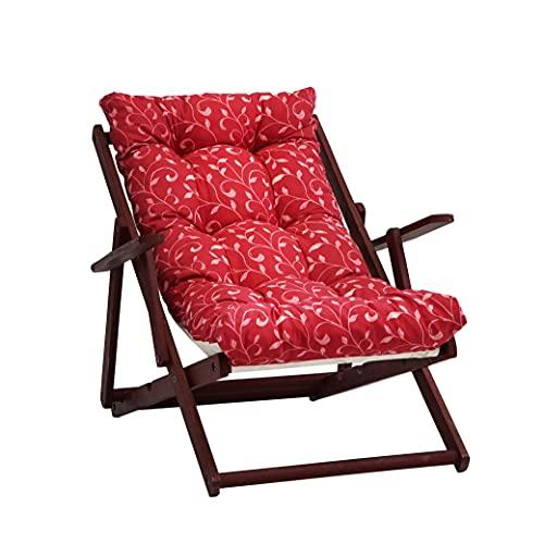TECNOCUCI Cuscino Imbottito per Poltrona Sdraio Relax (115x55x21cm) - 100% Made in Italy - Ricambio Ideale per Interni ed Esterni (Giardini, Cortili, terrazzi) - Disponibili Diversi Colori
