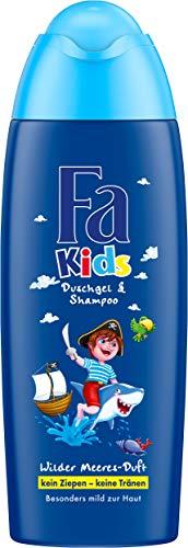 Fa Kids Duschgel und Shampoo, Pirat Wilder Meeresduft, 6er Pack (6 x 250 ml)