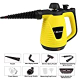 Belaco Multipurpose Steam Cleaner HandHeld with 9 Pieces Accessory kit for Multipurpose Yellow