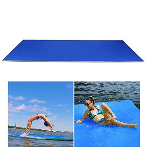 Topaty Floating Water Pad Durable Water Foam Mat, 3-Layer Tear-Resistant Water Floating Mat, Roll-up Floating Island for Pool Lake Ocean Boat Beach Water Recreation and Relaxing