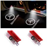 2 Pack Car Door Logo Projector Lights Welcome lights Compatible withMercedes Benz Ghost Shadow Light Accessories Wireless LED Lights for A,B,NEW C,E,M,ML,GL Class/GLE,GLS,GLA Series