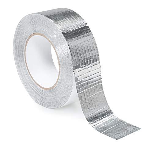 STERR – Verstärkt Aluminiumband Aluminium Klebeband Aluminiumklebebänder Silber 48mm X 45m