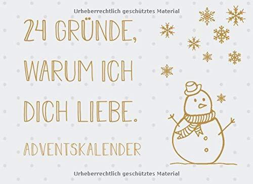 Adventskalender - 24 Gründe, warum ich dich liebe: Adventskalender als Gutscheinbuch mit 24 Gutscheinen zum selbst ausfüllen, Geschenk für Männer und Frauen zum Advent